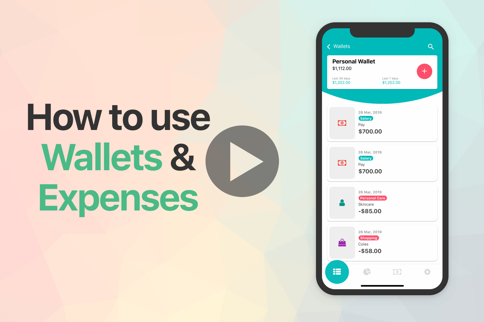 Use wallets and add expenses by following these 11 steps - Bookipi