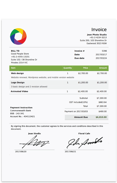 free invoice template 1